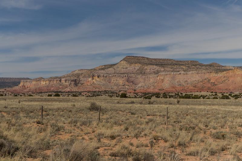 Scene near road to Christ in the Desert Benedictine Monastery, N.M.