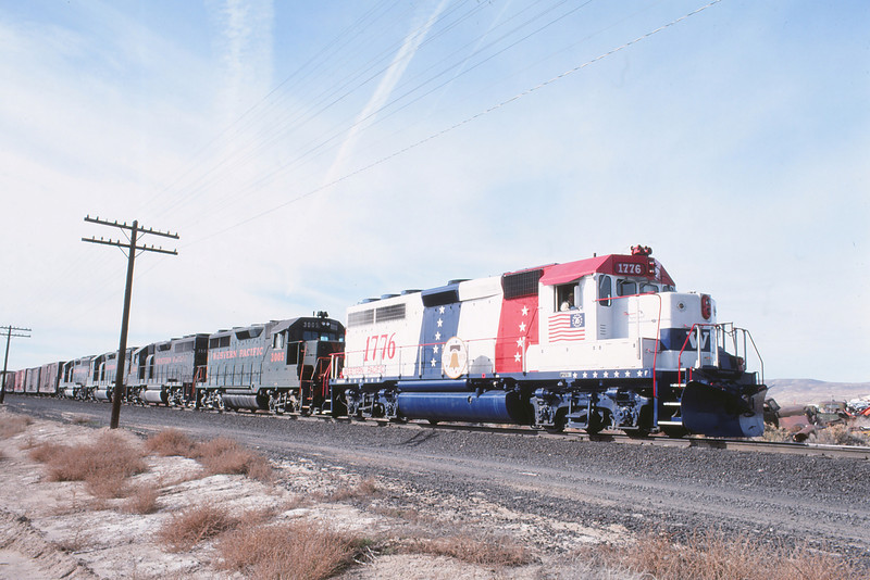 WPRR Elko,NV 1776 Locomotive 11-6-1976