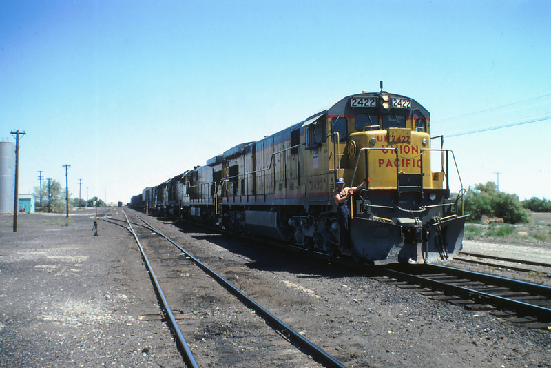 UP (On Western Pacific) Train @ wendover utah 8-4-1980
