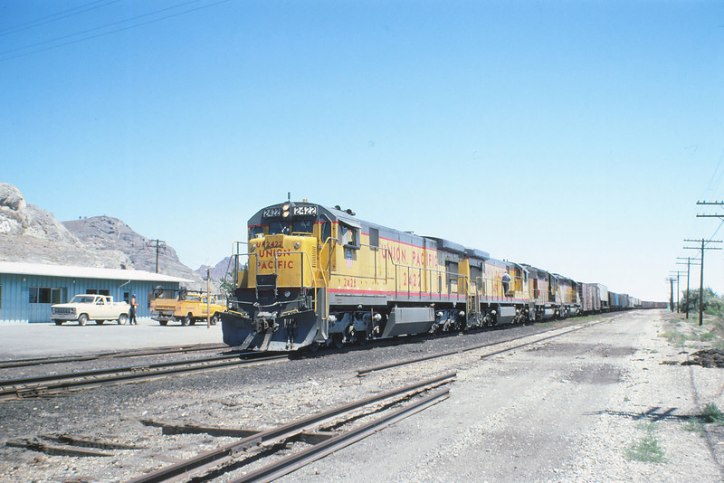 WPRR  WB Train @ Wendover UT 8-4-1980