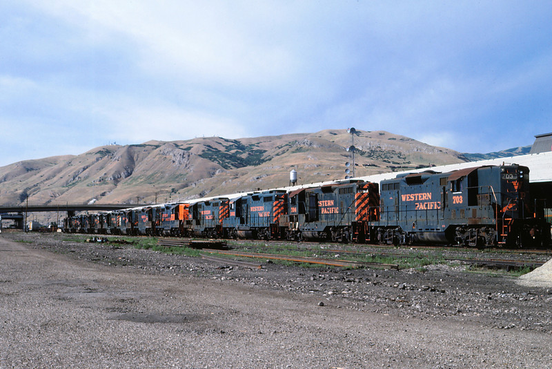 WPRR stored power @UPRR SLC, UT 7-8-1986