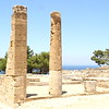 Ruins of Doric temple at Ancient Kamiros.
