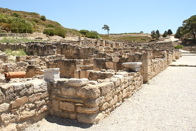 Main street with Hellenistic dwellings along it.