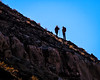 Hikers on a ridge above the Gunnison River.