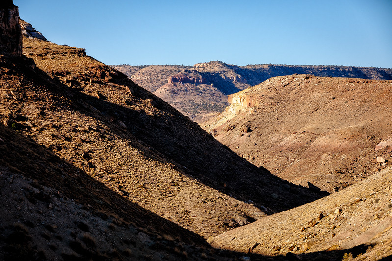 Rattle Snake Canyon leads down to the Gunnison River.
