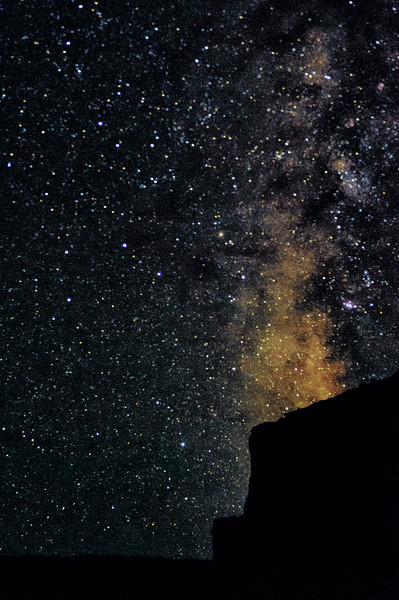 The Milky Way over the Ruby Canyon Rim on the Colorado River.