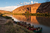 End of the day on the Colorado River with Centennial Canoe Outfitters.