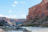 Entering the Black Rock section of the Colorado River.