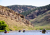 Canoeists on the Yampa River.