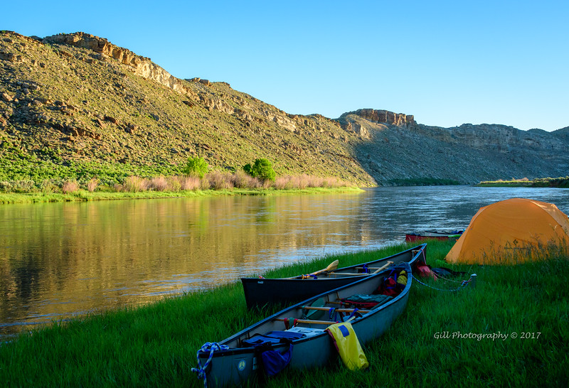 First light reaches the Yampa River.