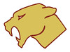 official western panther head 06 maroon and gold white eye