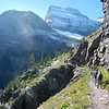 Grinnel Trail, Grinnel Glacier can just barely be seen.
