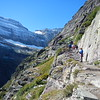 Grinnel Trail.  Grinnel Glacier can be seen middle, Gem Glacier at the very top.