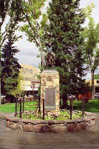 """Bucking Cowboy"" statue, Town Square, Jackson, Wyoming"