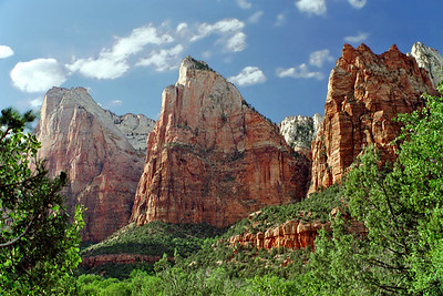 "Zion National Park, Court of the Patriarchs, ""Abraham, Issac, & Jacob"", Utah"