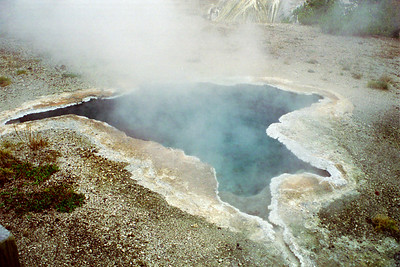 """Blue Star Pool"", Geyser Hill, Yellowstone National Park, Wyoming"