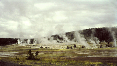 """Geyser Hill"" (near Old Faithful Inn), Yellowstone National Park, Wyoming"