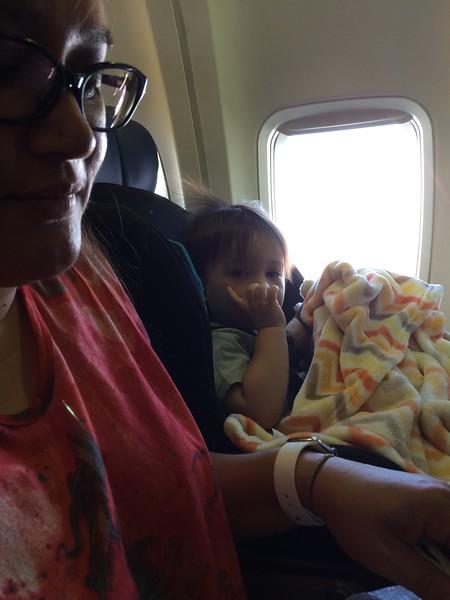 On the plane to Las Vegas.