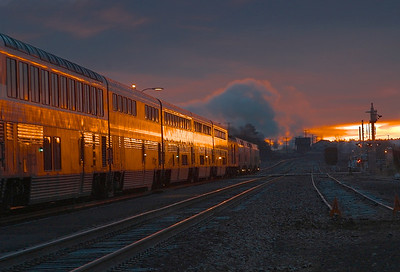 Flagstaff Train Station at sunrise