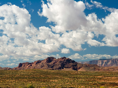 Rocky Terrain and Big Sky in The American Southwest