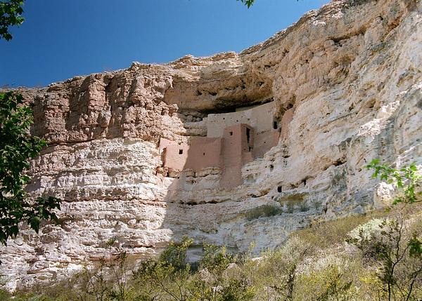 Ancient Indian Ruins At Montezuma Castle, Arizona
