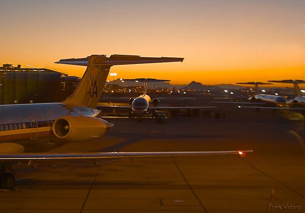 Phoenix Airport at Sunrise