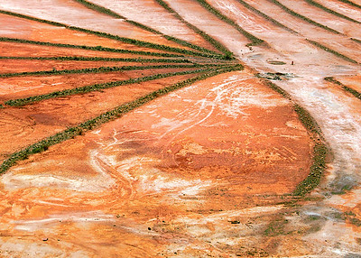 Abstract Patterns From Dried Copper Mine Tailings