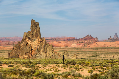 Desert landscape, Navajo Country near Kayenta, Arizona