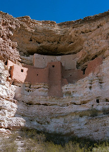 Ancient Indian Ruins At Montezuma Castle, Arizona