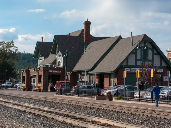 Historic Railroad Station, Downtown Flagstaff, Arizona