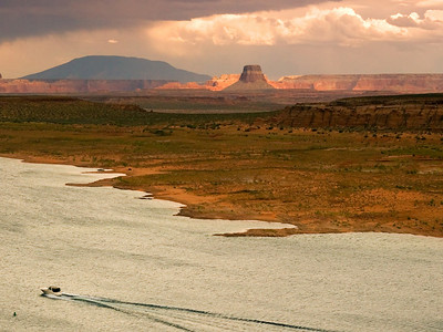 Tower Butte, Lake Powell, in Glen Canyon National Recreation Are