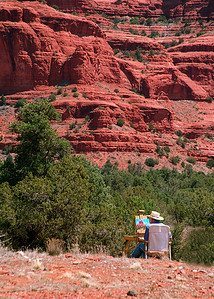 Outdoor Painter At Bell Rock, Sedona, Arizona