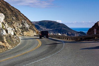 Pacific Coast Highway at Hurricane Point at Big Sur