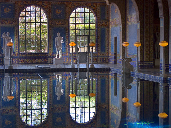Roman Pool at the Hearst Castle, San Simeon CA