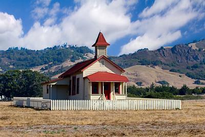 Historic Building in San Simeon, on the Central California Coast