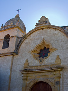 Facade and Tower of the Carmel Mission, California