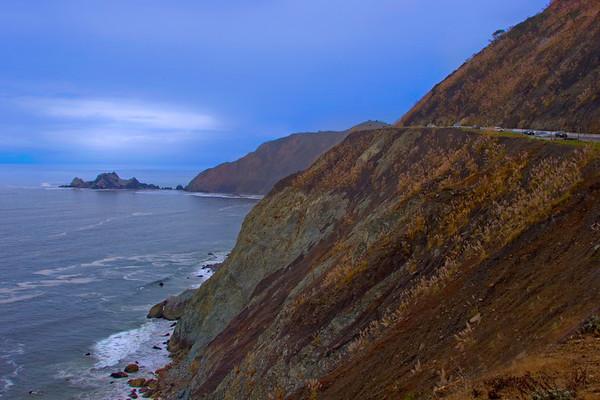 Rocky Cliffs on the California Coast