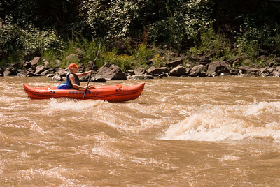 Woman Kayaking in Glenwood Canyon, Colorado