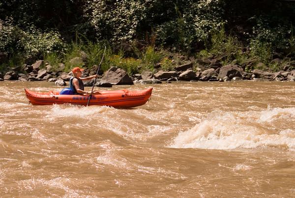Woman Kayaking in Glenwood Canyon, Colorado
