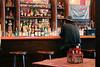 Man Sits in Old Time Cowboy Bar, Georgetown Colorado