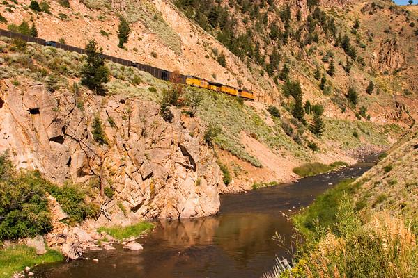 Train along the Colorado River