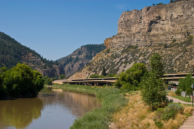 The Arkansas River Through Glenwood Canyon, Colorado