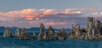 Panorama of Sunset on the Tufas