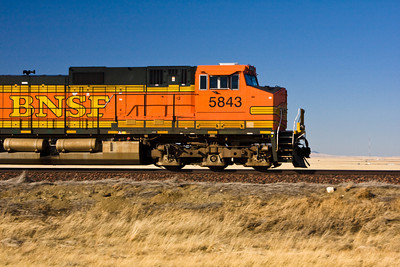 Diesel Locomotive on the Montana Prairie