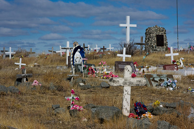 Rural Indian Cemetery, Fort Belknap Reservation, Harlem, Montana