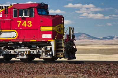 Diesel Locomotive on the Montana Prairie