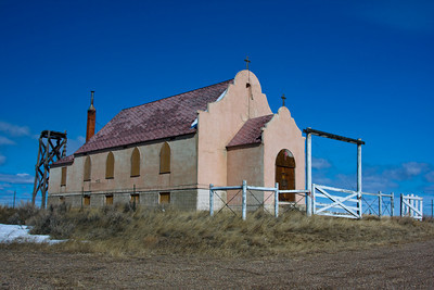 Abandoned Indian Church, Fort Belknap Reservation, Harlem, Montana
