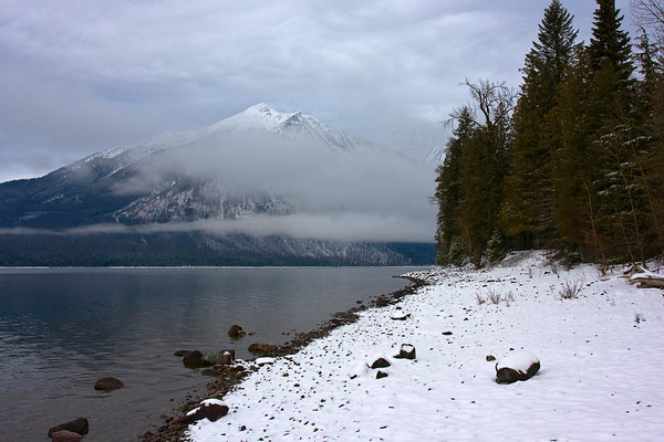 Stanton Mountain from Lake McDonald, Glacier National Park, Montana