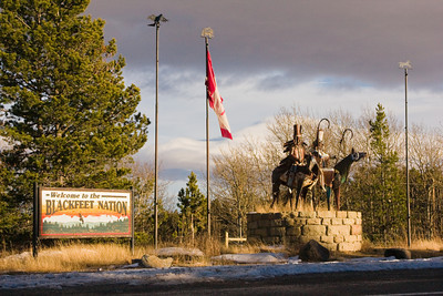 Memorial to Blackfeet Nation, East Glacier Park, Montana
