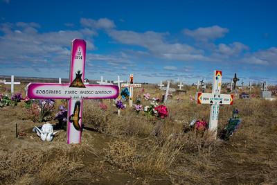 Rural Indian Cemetery, Fort Belknap Reservation, Harlem, Montana